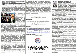 Baja el Folleto de Ron Paul en Español