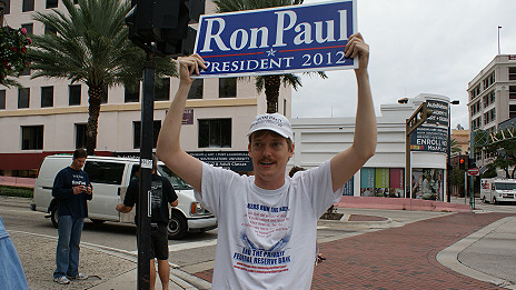 Mark, uno de los seguidores de Ron Paul